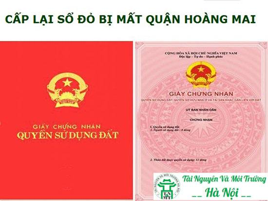 cấp lại sổ đỏ quận Hoàng Mai