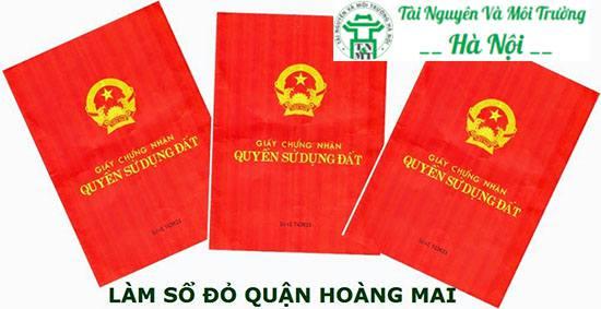 làm sổ đỏ quận Hoàng Mai