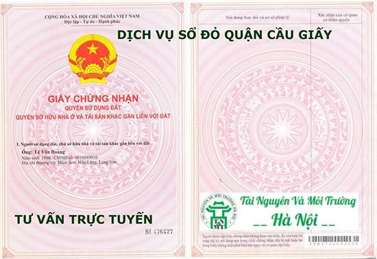 Dịch Vụ Làm Sổ Đỏ Quận Cầu Giấy Uy Tín Tại Hà Nội