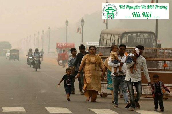 Tình trạng ô nhiễm môi trường không khí nghiêm trọng tại Ấn Độ